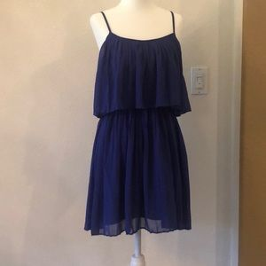 Forever 21 royal blue tiered mini dress